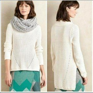 Anthropologie Moth High/Low Cowl Neck Sweater Sz M